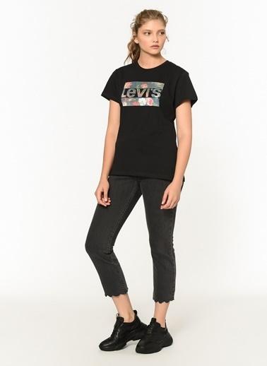Levi's® Lse Sports Bisiklet Yaka Kadın Tshirt Siyah
